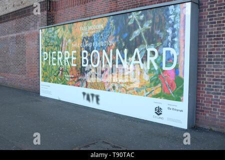 Artist Pierre Bonnard at the Tate, London, UK. - Stock Photo