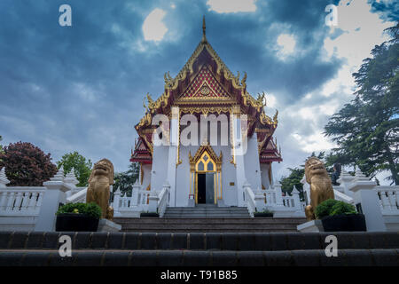 Buddhapadipa Buddhist Temple in Wimbledon, London, England, United Kingdom. - Stock Photo