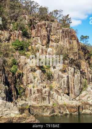 Cataract Gorge, in the lower section of the South Esk River in Launceston, Tasmania, is one of the region's premier tourist attractions. - Stock Photo