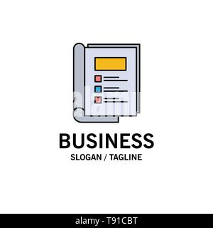 Book, Bundle, Layout, Report Business Logo Template. Flat Color - Stock Photo