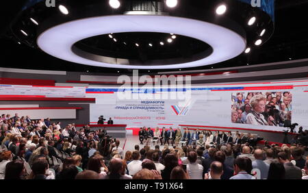 Sochi, Russia. 16th May, 2019. SOCHI, RUSSIA - MAY 16, 2019: The plenary meeting takes place at the 6th Independent Local and Regional Media Forum held by the All-Russian People's Front. Mikhail Metzel/TASS Credit: ITAR-TASS News Agency/Alamy Live News - Stock Photo