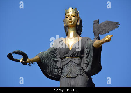The Statue of Saint Sofia (Sveta Sofia), Sofia, Bulgaria, Europe - Stock Photo