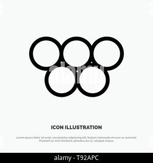 Ancient, Greece, Greek, Olympic Games Line Icon Vector - Stock Photo