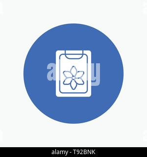 Flower, Clipboard, Spring, Clip - Stock Photo