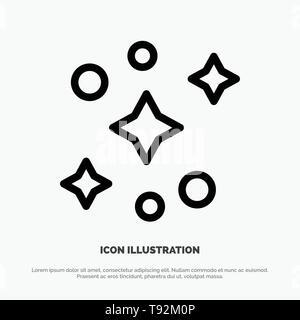 Galaxy, Space, Stars Line Icon Vector - Stock Photo
