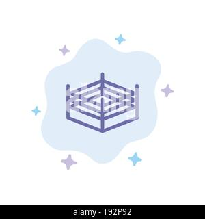 Boxing, Ring, Wrestling Blue Icon on Abstract Cloud Background - Stock Photo