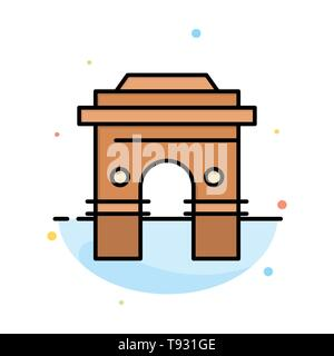Culture, Global, Hinduism, India, Indian, Srilanka, Temple Abstract Flat Color Icon Template - Stock Photo