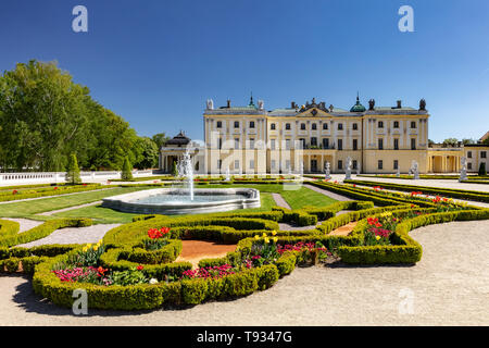 The Branicki Baroque palace and Medical University in Bialystok, Podlasie, Poland - Stock Photo