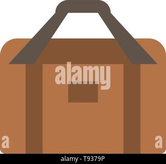 Bag, Equipment, Gym, Sports  Flat Color Icon. Vector icon banner Template - Stock Photo