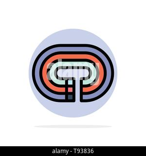 Running, Stadium, Surface, Track Abstract Circle Background Flat color Icon - Stock Photo