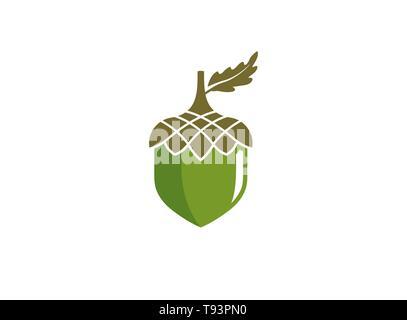 hazelnut dry fruit food a seed for logo design - Stock Photo