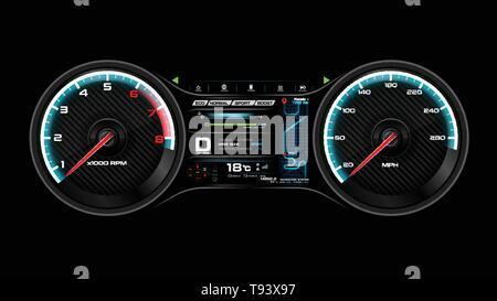 Car dash board vector illustration eps 10 - Stock Photo