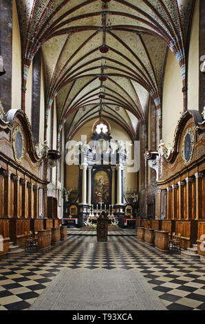 Archcathedral Basilica of Assumption of Blessed Virgin Mary and St. Andrew Apostel in Frombork. Poland Stock Photo