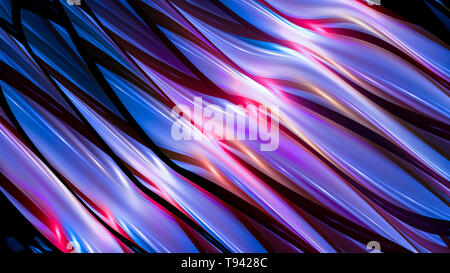 Colorful glowing futuristic metallic technology, computer generated abstract background, 3D rendering