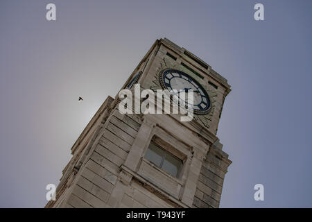 Stanley Park, Blackpool, Lancashire. 12th May 2019. Cocker Clock Tower in Stanley Park, Blackpool. Credit: Craig Searle - Stock Photo
