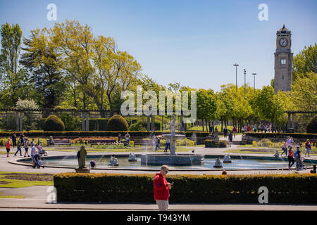 Stanley Park, Blackpool, Lancashire. 12th May 2019. The Italian Gardens in Stanley Park, Blackpool. Credit: Craig Searle - Stock Photo