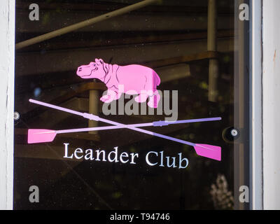 Leander Club, Third Oldest Rowing Club, in The World, Henley-on-Thames, Berkshire, England, UK, GB. - Stock Photo