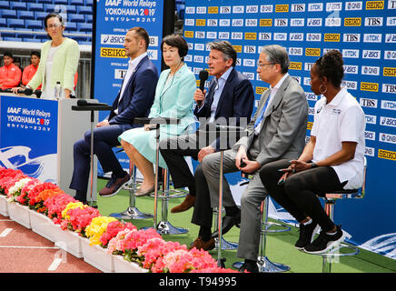 YOKOHAMA, JAPAN - MAY 10:  during the official press conference of the 2019 IAAF World Relay Championships at the Nissan Stadium on May 10, 2019 in Yokohama, Japan. (Photo by Roger Sedres for the IAAF) - Stock Photo