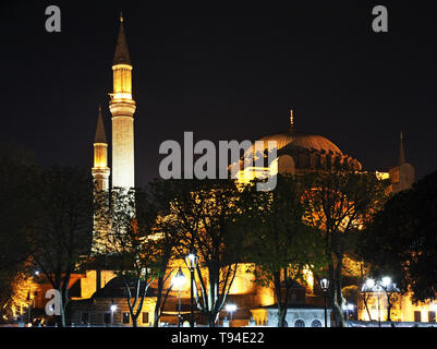 Hagia Sophia in Istanbul. Turkey - Stock Photo