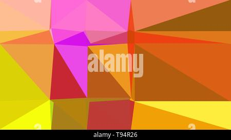 coffee, vivid orange and hot pink multicolor background art. simple geometric shape background for poster, banner design, wallpaper or texture. - Stock Photo