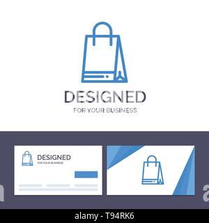 Creative Business Card and Logo template Bag, Shopping, Canada Vector Illustration - Stock Photo