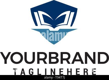 education shiled logo design concept template vector - Stock Photo