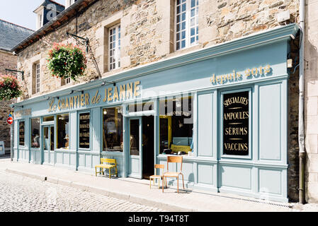 Paimpol, France - July 28, 2018: Old pharmacy in the old town of Paimpol, Brittany - Stock Photo