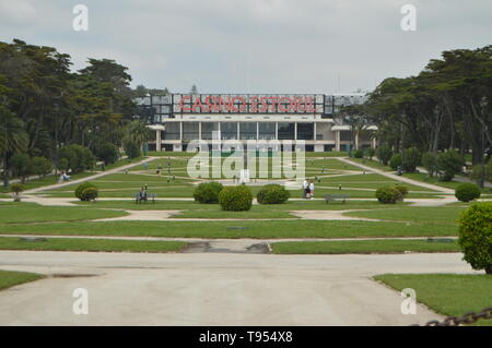 April 15, 2014. Estoril, Cascais, Sintra, Lisbon, Portugal. Main Facade and Gardens of the Gran Casino in Estoril. Travel, Nature, Landscape. - Stock Photo
