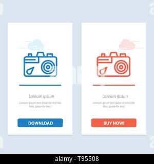 Camera, Education, Image, Picture Blue Icon on Abstract