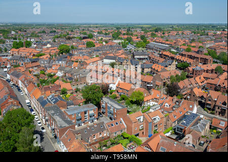 The town of Beverley in East Yorkshire - Stock Photo