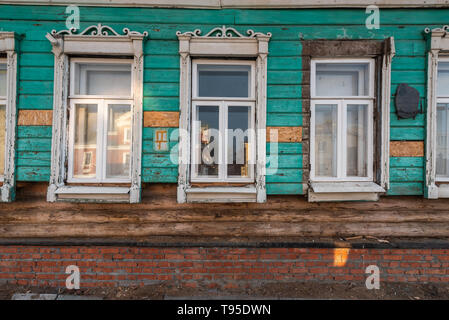 Old residential house.Kremlin of Kolomna, Moscow region, Russia - Stock Photo