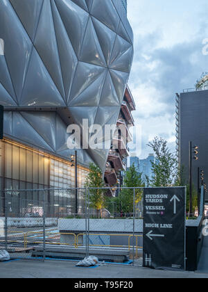 Hudson Yards entrance The Shed and The Vessel - Stock Photo