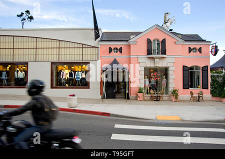 Buildings at Sunset Plaza on the Sunset Strip in West Hollywood, Los Angeles, CA, USA - Stock Photo