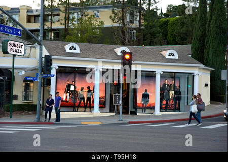 Sunset Plaza on the Sunset Strip in West Hollywood, Los Angeles, CA. USA - Stock Photo
