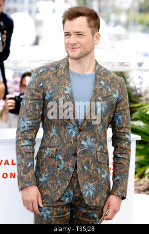 Cannes, France. 16th May, 2019. Taron Egerton at the 'Rocketman' photocall during the 72nd Cannes Film Festival at the Palais des Festivals on May 16, 2019 in Cannes, France Credit: Geisler-Fotopress GmbH/Alamy Live News - Stock Photo