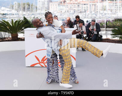Cannes, France. 16th May, 2019. Yolonda Ross and Rob Morgan pose during a photocall for the film 'Bull' screened in the Un Certain Regard section during the 72nd Cannes Film Festival in Cannes, France, May 16, 2019. Credit: Gao Jing/Xinhua/Alamy Live News - Stock Photo