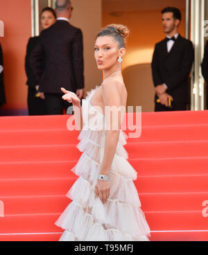 Cannes, France. 16th May, 2019. CANNES, FRANCE. May 16, 2019: Bella Hadid at the gala premiere for 'Rocketman' at the Festival de Cannes. Picture Credit: Paul Smith/Alamy Live News - Stock Photo