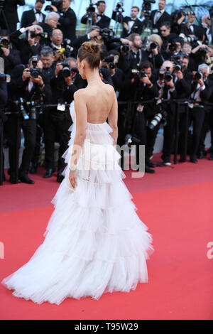 CANNES, FRANCE - MAY 16: Bella Hadid attends the screening of 'Rocket Man' during the 72nd Cannes Film Festival (Credit: Mickael Chavet/Project Daybreak/Alamy Live News) - Stock Photo