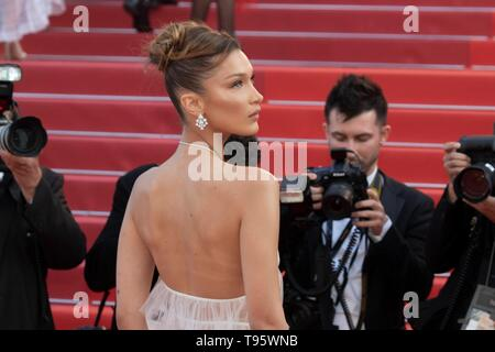 Cannes, France. 16th May, 2019. Bella Hadid attends the premiere of 'Rocketman' during the 72nd Cannes Film Festival at Palais des Festivals in Cannes, France, on 16 May 2019. | usage worldwide Credit: dpa/Alamy Live News - Stock Photo