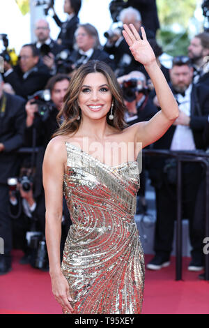 Cannes, France. 16th May, 2019. Actress Eva Longoria poses on the red carpet for the premiere of the film 'Rocketman' at the 72nd Cannes Film Festival in Cannes, France, on May 16, 2019. The 72nd Cannes Film Festival is held here from May 14 to 25. Credit: Zhang Cheng/Xinhua/Alamy Live News - Stock Photo