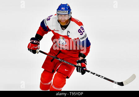 Bratislava, Slovakia. 16th May, 2019. Jakub Voracek (CZE) in action during the match between Czech Republic and Latvia within the 2019 IIHF World Championship in Bratislava, Slovakia, on May 16, 2019. Credit: Vit Simanek/CTK Photo/Alamy Live News - Stock Photo