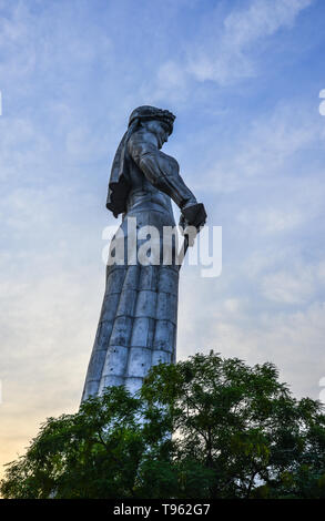Tbilisi, Georgia - Sep 22, 2018. Kartlis Deda (Mother of Georgian) Monument in Tbilisi, Georgia. The statue was erected on the top of Sololaki hill in - Stock Photo