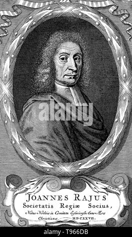 John Ray (November 29, 1627- January 17, 1705) was an English naturalist, sometimes referred to as the father of English natural history. He published important works on botany, zoology, and natural theology. His classification of plants in his Historia Plantarum, was an important step towards modern taxonomy.  He was the first to give a biological definition of the term species.