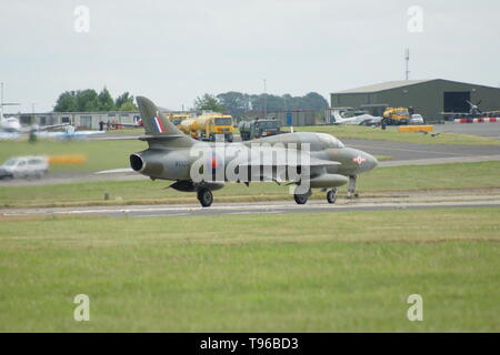 Hawker Hunter, cold war jet fighter - Stock Photo
