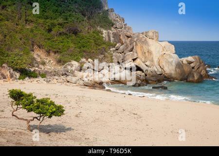 Lonely bay near Vinh Hy, south china sea,Vietnam,asia - Stock Photo