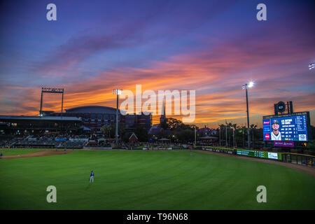 Baseball Grounds Sunset - Stock Photo