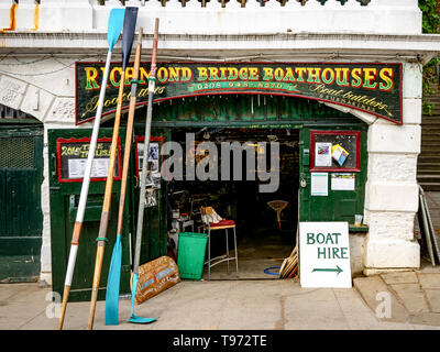 Richmond Bridge Boathouses - Stock Photo
