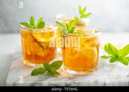 Homemade iced tea - Stock Photo