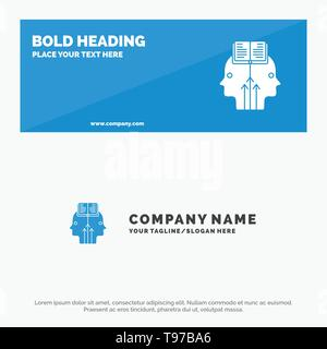 Mind, Reading, Programming, Man SOlid Icon Website Banner and Business Logo Template - Stock Photo