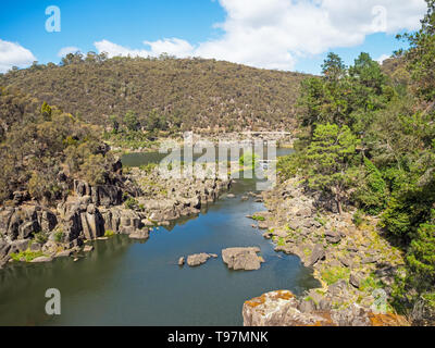 Cataract Gorge, in lower section of the South Esk River in Launceston, Tasmania, Australia, is one of the region's premier tourist attractions. - Stock Photo